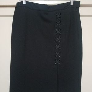 Side Lace Up Pencil Skirt